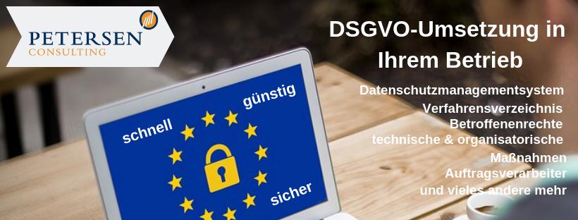 DSGVO-Umsetzung in Ihrem Betrieb