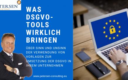 Was DSGVO Tools wirklich bringen